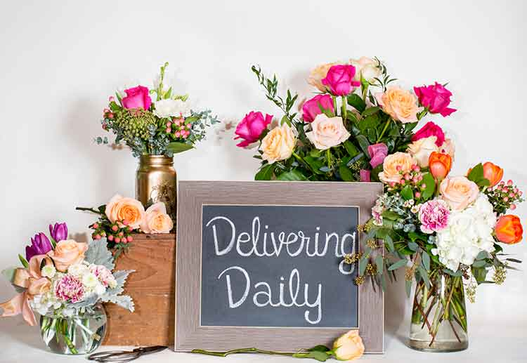 Leigh Florist delivers flowers